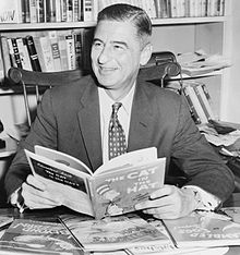"Theodor Geisel, also known as Dr. Seuss, author of several iconic children's book like ""Green Eggs and Ham"" and ""The Lorax""."