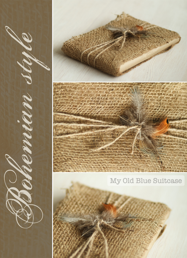 Burlap and Feather Rustic Gift Wrapping Ideas
