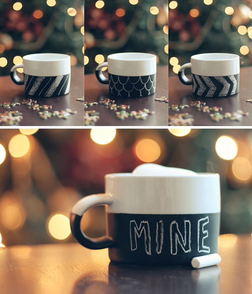 Chalkboard Mug + 49 More DIY Gift Ideas for Christmas