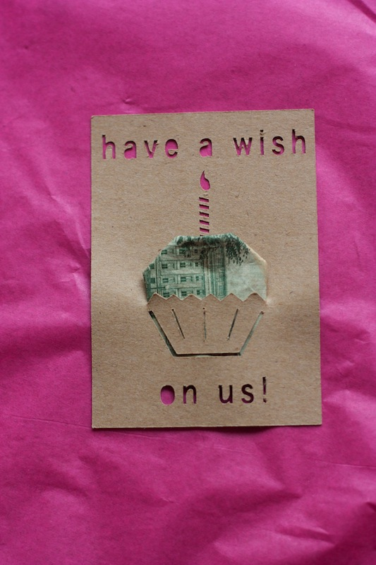 Cupcake Money Card