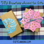 DIY Paper Snowflake Accent for Plain-Looking Gifts