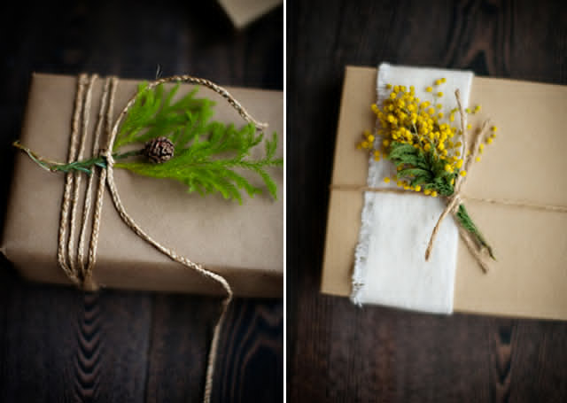Flower Rustic Gift Wrapping Ideas