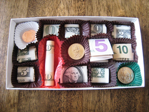 Money Chocolate Gift