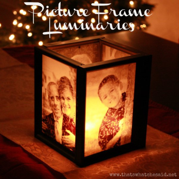 Picture Frame Lamp + 49 More DIY Gift Ideas for Christmas