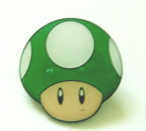 1Up Mushroom Badge Pin + More Mario Stocking Stuffers