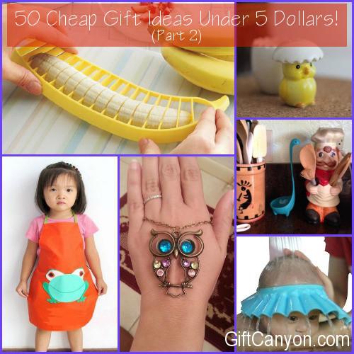 50 Cheap Gift Ideas Under 5 Dollars Part 2