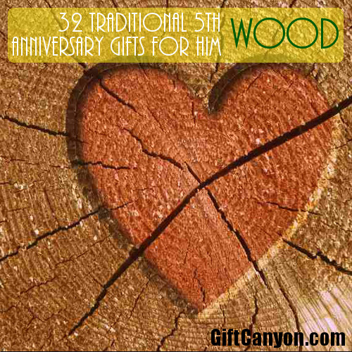 5th Traditional Wdding Anniversary Gifts for Him - Wood