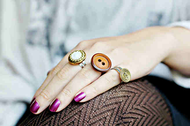 Button Rings + 49 More DIY Christmas Gift Ideas