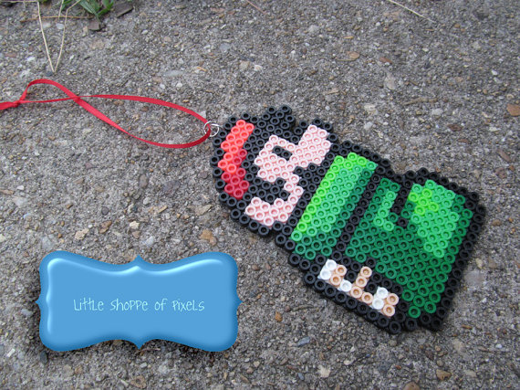 Fusebead Mario Goomba Shoe Keychain + More Mario Stocking Stuffers