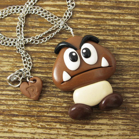 Goomba Necklace + More Mario Stocking Stuffers