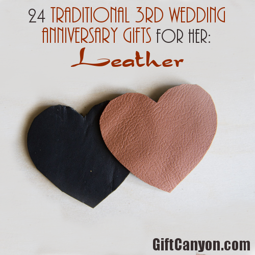 Leather 3rd Wedding Anniversary Gifts For Her