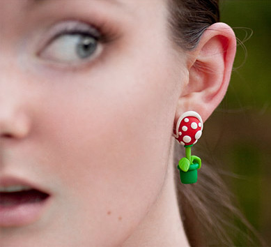 Piranha Plant Earrings + More Mario Stocking Stuffers