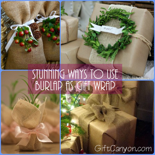 Stunning Ways to Use Burlap as Gift Wrap
