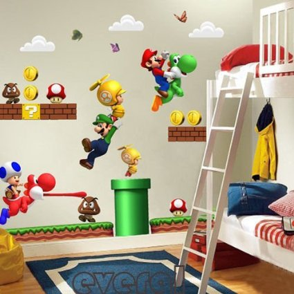 Super Mario Wall Decals + More Mario Stocking Stuffers