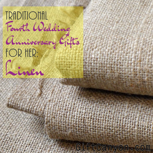 Traditional 4th Wedding Anniversary Gifts For Her Linen Gift Canyon