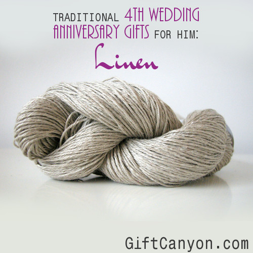 Traditional 4th Wedding Anniversary Gifts for Him: Linen - Gift Canyon