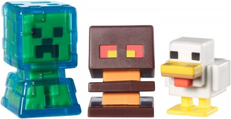 Electrified Creeper, Chicken and Magma Cube Mini Figures