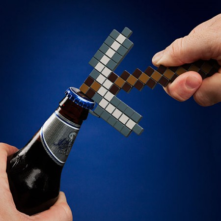 Minecraft Pickaxe Bottle Opener