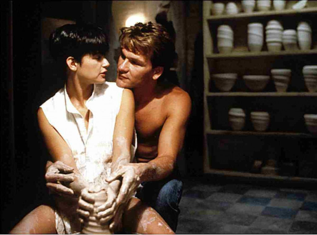 The movie Ghost makes pottery making so romantic. Maybe you can reenact this while on your pottery making class?