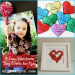 8 Easy Valentines Day Crafts for Children!