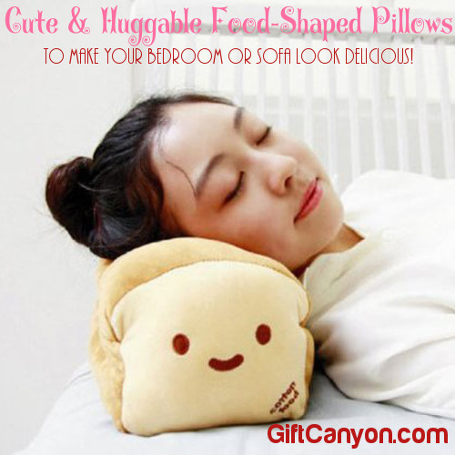 Cute & Huggable Food-Shaped Pillows to Make Your Bedroom or Sofa Look Delicious
