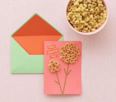 Heart Pasta Card