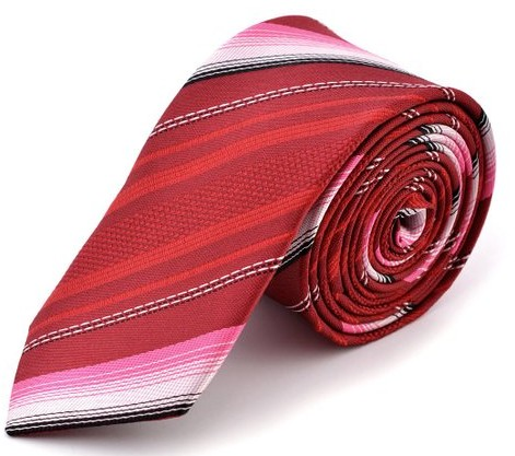 Red Satin Necktie