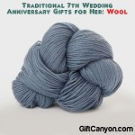 Traditional 7th Wedding Anniversary Gifts for Her: Wool