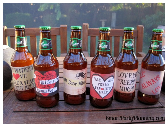 Valentines Beer Labels