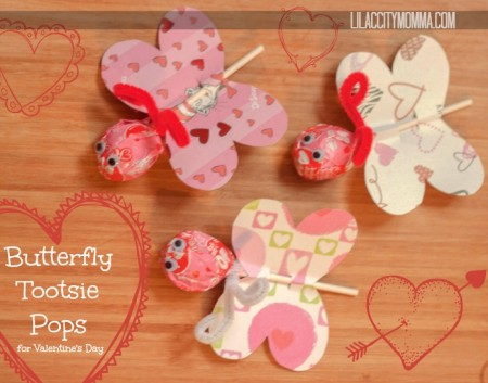 Valentines Butterfly Lollipop