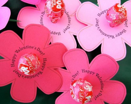 Valentines Day Lollipop Flowers