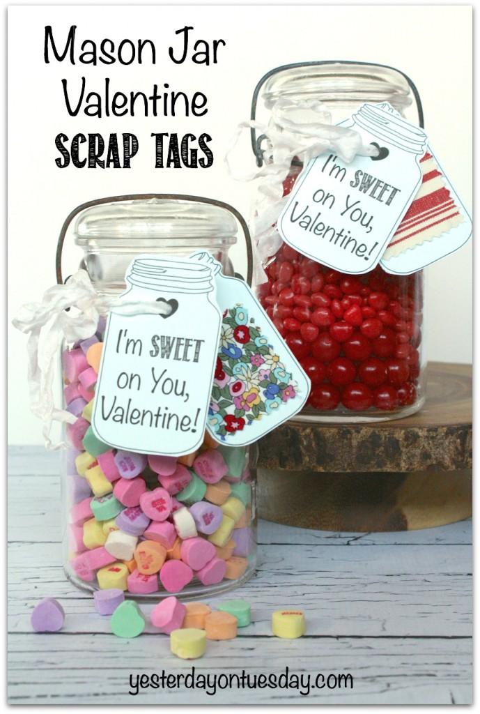Valentines Mason Candy Jars