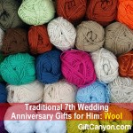 Traditional 7th Wedding Anniversary Gifts for Him: Wool
