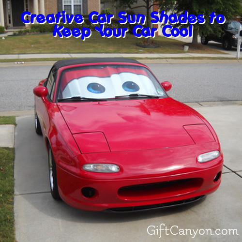 creative car sun shades to keep your car cool gift canyon. Black Bedroom Furniture Sets. Home Design Ideas