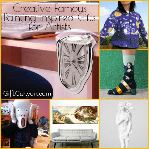 Creative Famous Painting Inspired Gifts for Artists