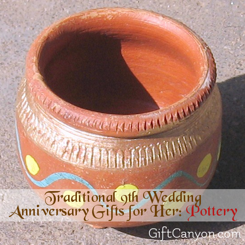 Wedding Anniversary Gifts For Her: 9th Year: Pottery Wedding Anniversary Gifts For Her