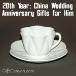 20th Year China Wedding Anniversary Gifts For Him