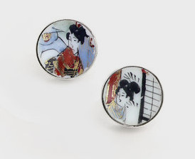 broken china cufflinks
