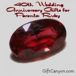 40th Wedding Anniversary Gifts for Parents: Ruby