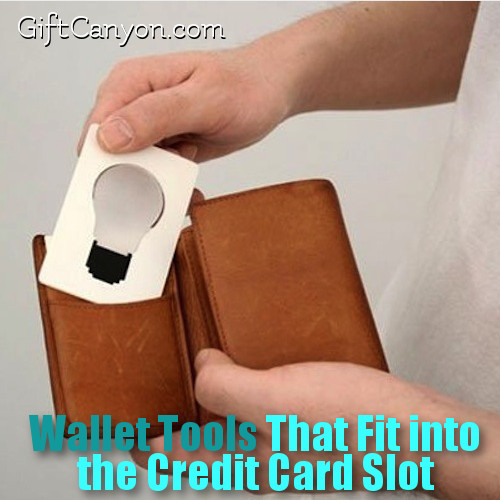 Wallet Tools That Fit into the Credit Card Slot