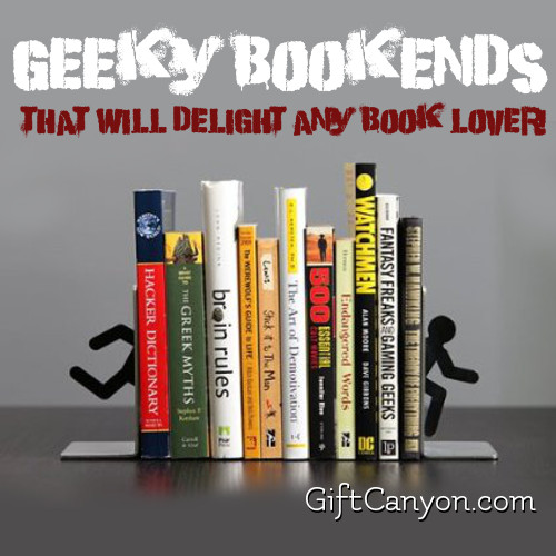 Geeky Bookends that Will Delight Any Book Lover