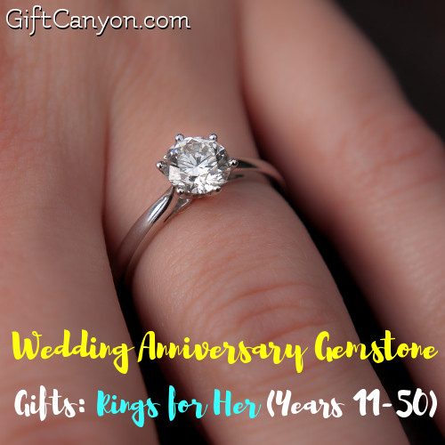 Wedding Anniversary Gemstone Gifts Rings For Her Years 11 50