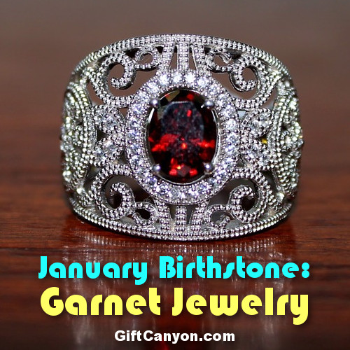 january birthstone garnet jewelry
