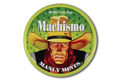 Machismo Manly Mints. Funny name!