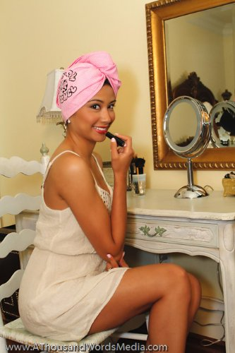 The Holy Cow Towel Wrap dries your hair than blow drying alone!
