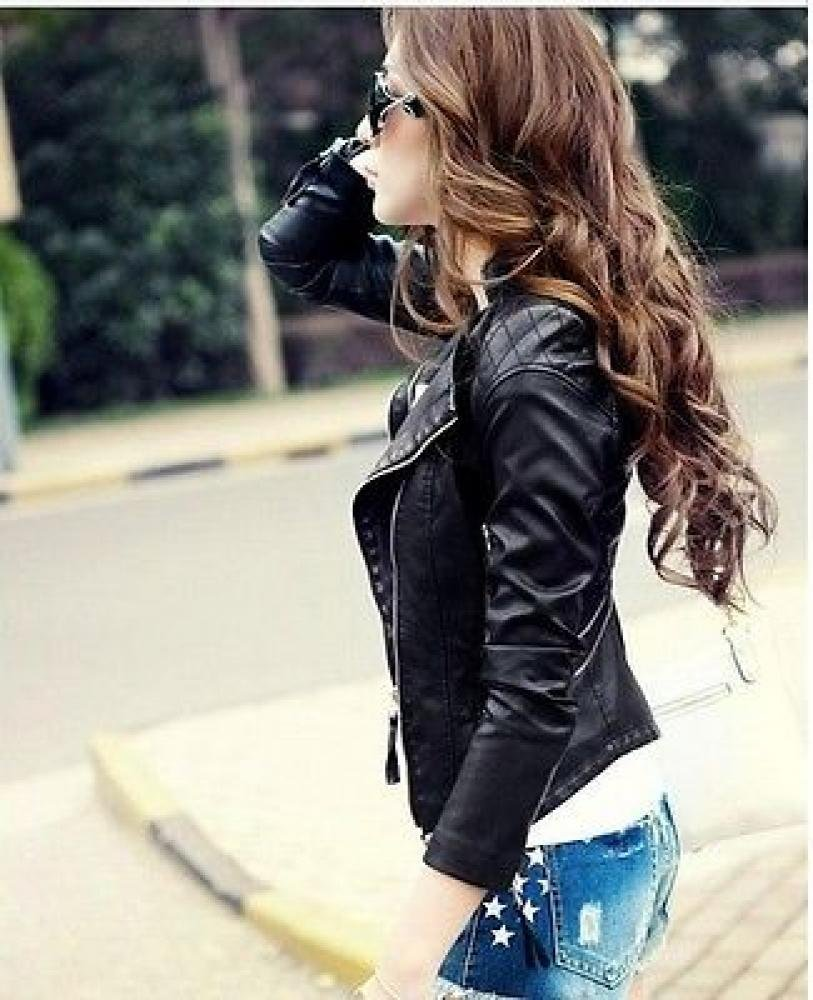 A nice leather jacket is very trendy.