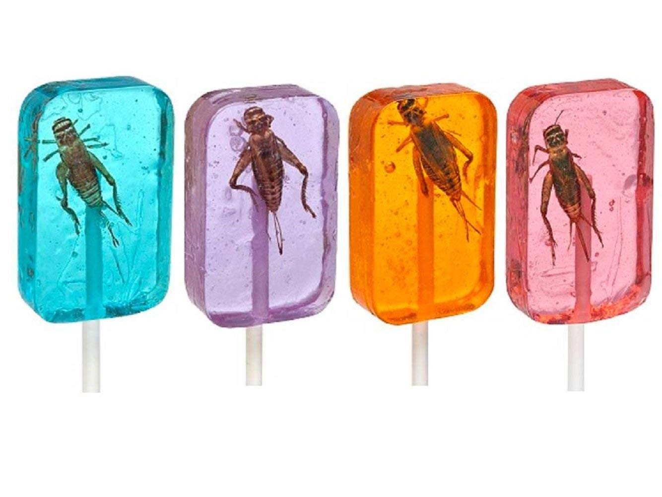Can they eat this cricket lollipops and get to the chickety center?