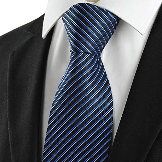 Blue pinstripe necktie is a classic and should never be absent from a man's wardrobe.