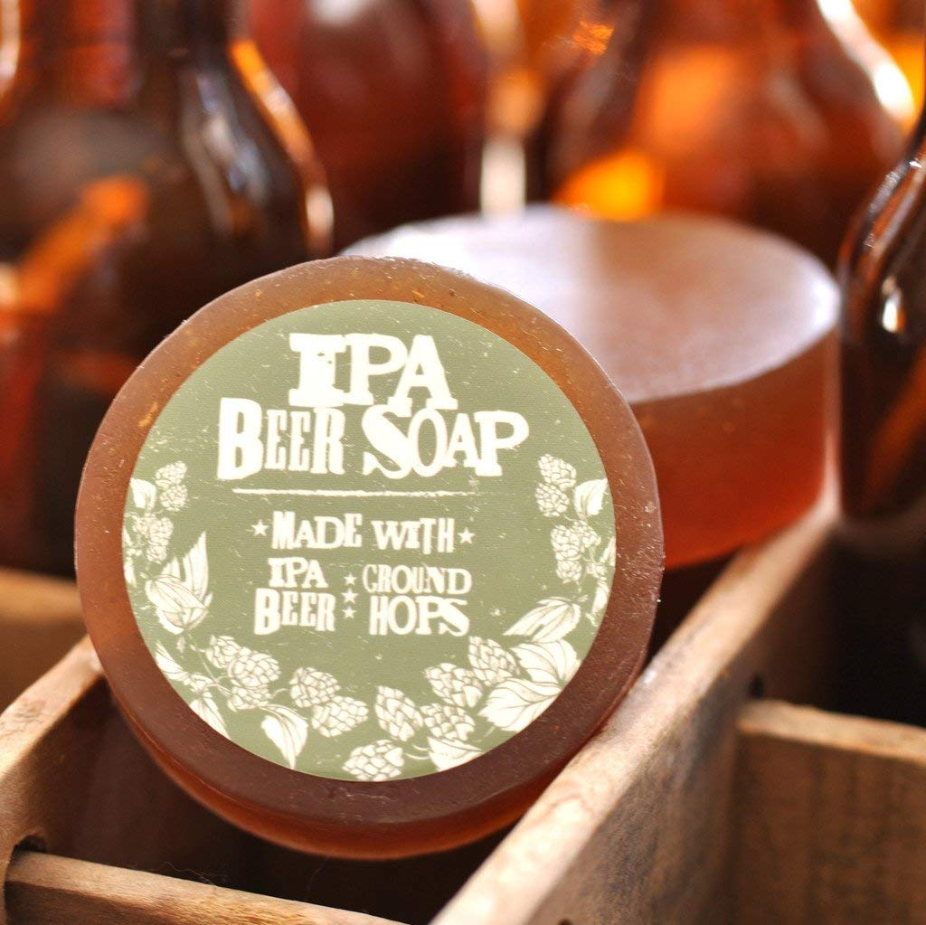 Beer Soap! Look nice, smells nice, nice in a spicy, hopsy kind of way.